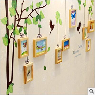 甜蜜记忆树墙贴实木照片墙相框墙组合高端客厅卧室相片墙 发货周期:一般在付款后2-90天左右发货,具体发货时间请以与客服协商的时间为准