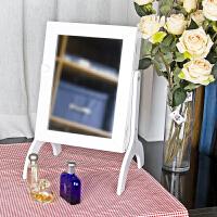【当当自营】阿栗坞 桌面收纳化妆镜 梳妆镜 梳妆盒 收纳盒 白色 1013