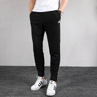 Adidas阿迪达斯男裤2019秋季新款收口小脚裤休闲透气针织运动裤DX6785