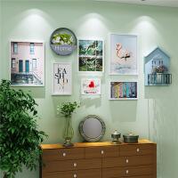 北欧实木相框墙画框创意照片墙相片墙客厅画挂墙壁饰组合 白色