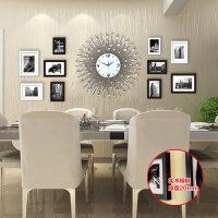 欧式相框挂钟客厅创意钟表现代简约时尚照片墙静音挂表石英钟墙钟 20英寸以上