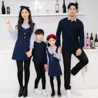 亲子装秋冬季2017韩版全家装一家三口装秋装卫衣母子母女装