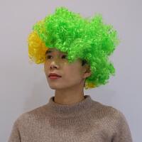 助威拉拉队假发彩色爆炸头酒吧小丑cos球迷发套