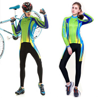 情侣春夏季骑行服套装长袖男女骑行长裤秋冬骑行服自行车