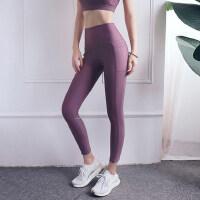 高腰收腹瑜伽裤女弹力紧身速干跑步运动裤蜜桃提臀健身长裤