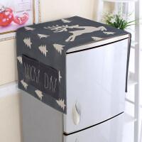 海尔冰箱双开门布罩单开门防尘罩挂袋滚筒洗衣机遮尘布家用盖巾盖布 麋鹿