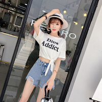 2018夏天矮个子春秋装女显高套装时尚两件套女洋气短裤T恤时髦