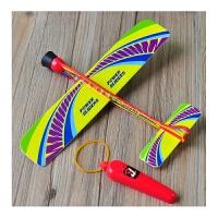泡沫塑料弹射滑翔小飞机DIY航空模型玩具儿童手工拼装制作