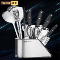 维艾刀具十一件套装菜刀厨房套刀德国套装组合不锈钢家用全套厨具
