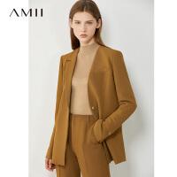 Amii极简时髦通勤职业 2021春装新款炸街西装外套女