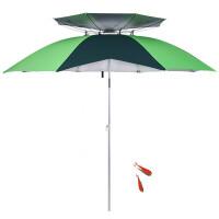 钓鱼伞万向防晒遮阳伞2/2.2米双层折叠渔具用品垂钓伞 2.
