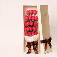????喜迎中秋国庆全国11朵红玫瑰花束同城花店鲜花速递送北京上海杭州南京苏州 喜迎国庆 礼盒