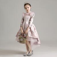 花童礼服女童公主裙小女孩走秀蓬蓬纱儿童洋气主持人钢琴表演服秋