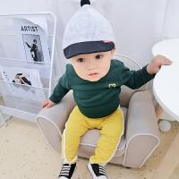 女婴儿童T恤1岁6个月春秋季长袖上衣新生宝宝衣服
