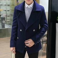 冬季男士毛呢大衣韩版修身短款呢子外套秋季加厚妮子风衣帅气男装