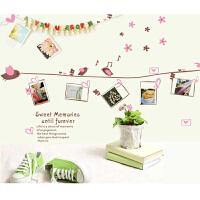 宜美贴 幸福回忆 儿童房卧室沙发墙自粘浪漫可移除壁纸相框墙贴