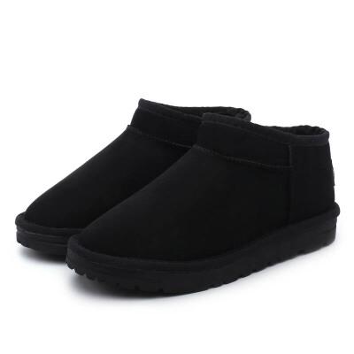 环球 短筒雪地靴 韩版百搭加绒保暖学生女短靴
