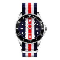 男士防水石英表布带手表男表运动腕表
