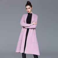 欧美女装冬季新款羊绒风衣大衣女外披斗篷风衣大衣