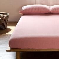 无印针织棉床笠单件良品床色1.5m1.8席梦思床罩