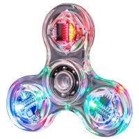 指尖陀螺LED�l光版手指陀螺�p�和婢�和��W光指�g螺旋水晶��艄� 水晶陀螺 �l光
