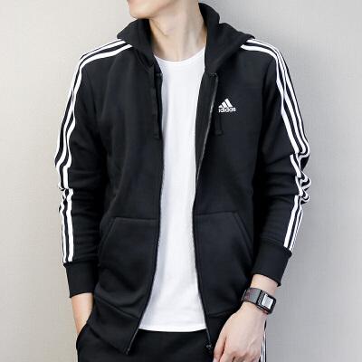 Adidas阿迪达斯 男子 运动休闲外套 连帽加绒保暖夹克B47368