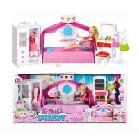 乐吉儿A001梦幻房间衣橱洋布芭比娃娃套装大礼盒2014女孩玩具