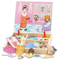 2-3-4-6-7岁宝宝早教益智力玩具儿童木质磁性立体拼图版男女