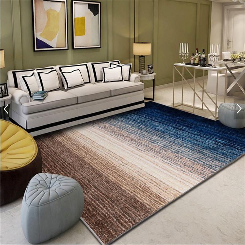家用现代北欧风格几何图案地毯客厅沙发茶几卧室满铺长方形可水洗  1.8*2.8米 送地垫