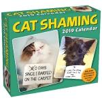 【现货】英文原版 猫咪道歉贴2019年日历 每天一页 萌宠摄影 幽默礼物 Cat Shaming 2019 Day-T