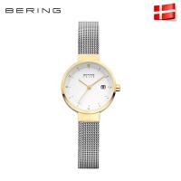 Bering白令进口休闲女士手表简约光能表太阳能钢带防水腕表14426