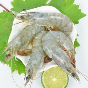 【厄瓜多尔进口】白虾海虾鲜活冻虾大对虾冷冻海鲜海虾海货海产品2kg(50-60)顺丰包邮