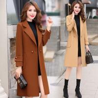 毛呢大衣外套女新款中长款韩版修身冬季加厚显瘦翻领呢子大衣