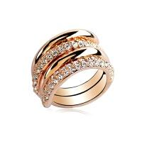 组合可拆分网红饰品日韩版女潮人镀玫瑰金关节夸张宽食指装饰戒指