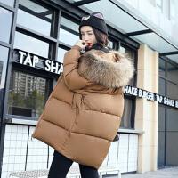 【极速发货 超低价格】胖MM毛领棉衣外套冬装新款中长款棉服加厚棉袄加肥大码女装面包服