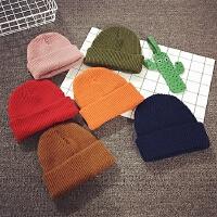 儿童毛线帽秋冬套头帽男女宝宝帽子针织帽婴儿帽子6-个月护耳帽