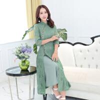 实拍蕾丝旗袍裙春装新款端庄大气少女中国风连衣裙改良日常