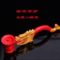佛教用品龙头香炉手炉树脂手柄香炉佛事专用配长手柄佛前挂饰供品