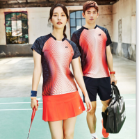 羽毛球服套装女款透气短裤裙 网球服打折修身乒乓球衣男比赛服