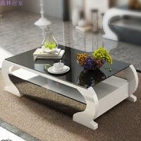 现代简约客厅茶几组合欧式创意小户型钢化玻璃烤漆方形茶几 1.3米茶几 组装