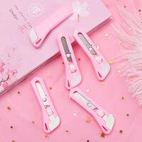 粉色迷你随身小号美工刀小刀开箱器手工刀具美术刀文具用品学生用