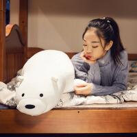 小熊毛绒玩具抱枕公仔长条枕头可爱睡觉娃娃女生软