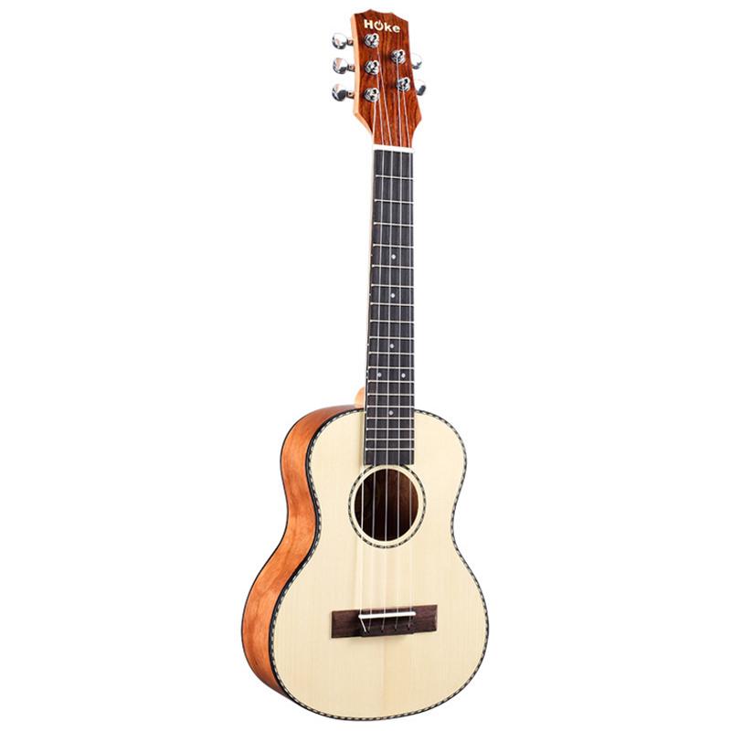 乌克丽丽尤克里里26小吉他云杉面单5弦琴弦乐器