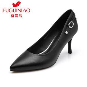 富贵鸟夏季新款女鞋 单鞋女高跟尖头鞋 细跟工作鞋女鞋