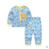 男童开衫家居服套装 宝宝春装 儿童睡衣纯棉 中大童衣服