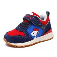 史努比童鞋秋冬季款男童跑步鞋儿童休闲鞋