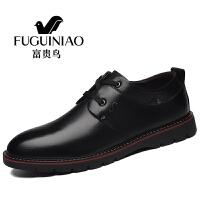 富贵鸟男鞋新品男士休闲鞋商务正装皮鞋男英伦时尚男鞋休闲皮鞋B709039 黑色B709039 40