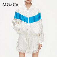 MOCO2019夏季新品提花立领棒球服外套MAI2JKT013 摩安珂