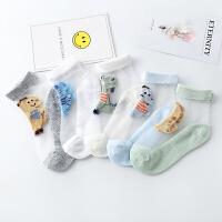 儿童袜子恐龙鳄鱼男童丝袜宝宝透明袜薄款