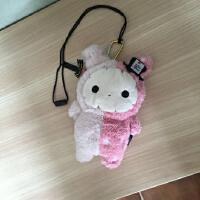 新年萌物~日本原儿童女宝宝可爱毛绒小兔子挎包零钱包 可做挂饰